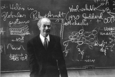 Linus Pauling at Osaka University. Osaka, Japan. Picture. March 2, 1955