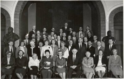 Group portrait of participants at the Oslo Conference. Picture. 1961
