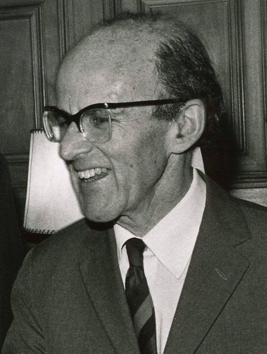 Portrait of Max Perutz.
