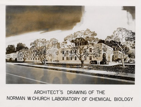 Architectural rendering of the Norwan W. Church Laboratory of Chemical Biology, California Institute of Technology.