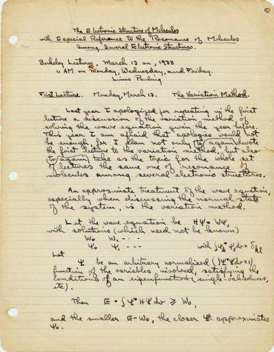 M.I.T. Lectures.Part 3 - Page 1. April 1932 - April 1933