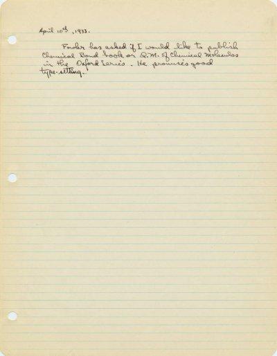 M.I.T. Lectures.Part 3 - Page 31a. April 1932 - April 1933