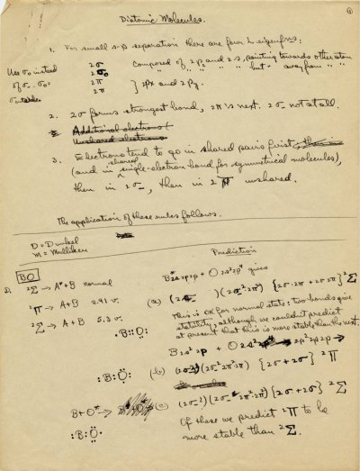 """Diatomic Molecules.""Page 1. 1931"