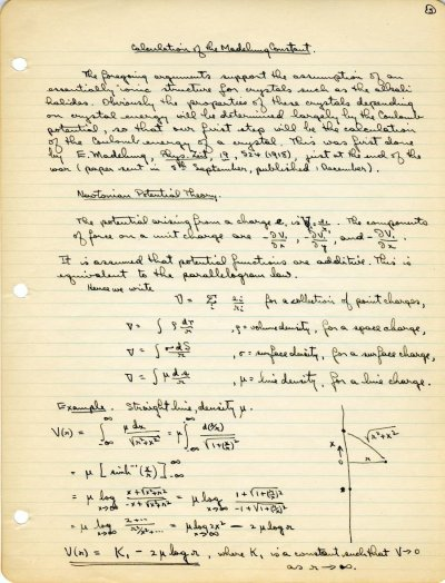 Lecture Notes: The Structure of Ionic CrystalsPage 5. 1931