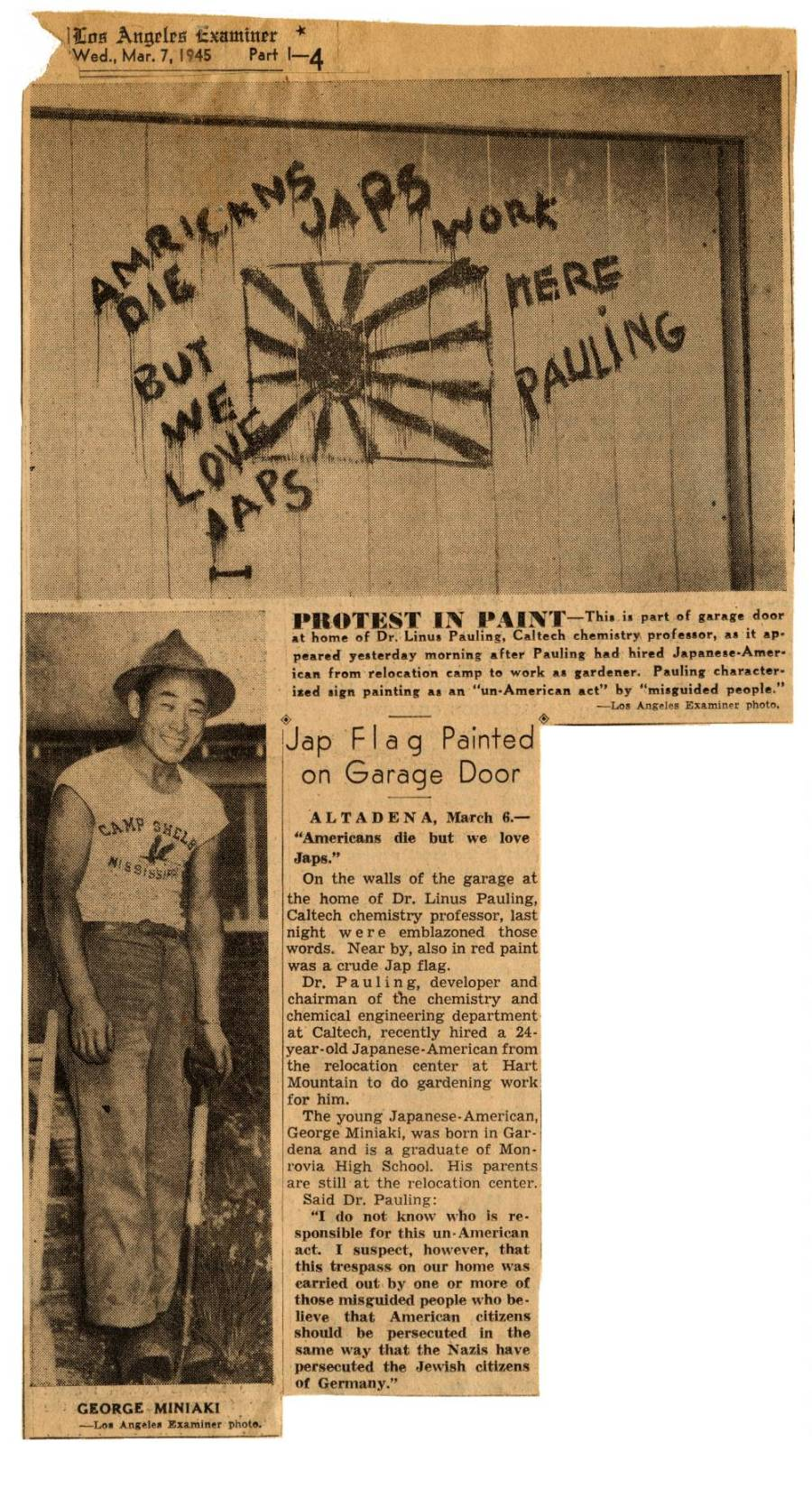 """Jap Flag Painted on Garage Door."""