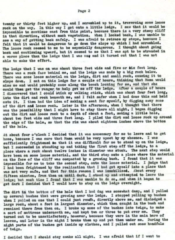 Letter from Linus Pauling to Linus Jr., Linda, Peter, Crellin and Lucy Pauling. Page 2. February 12, 1960