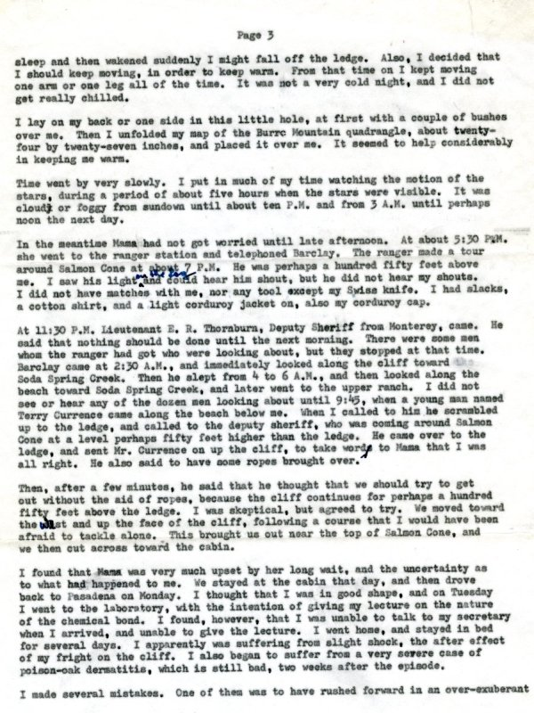 Letter from Linus Pauling to Linus Jr., Linda, Peter, Crellin and Lucy Pauling. Page 3. February 12, 1960