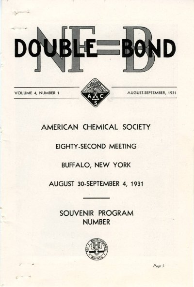 Program: NF=B Double Bond Page 1. August 31, 1931