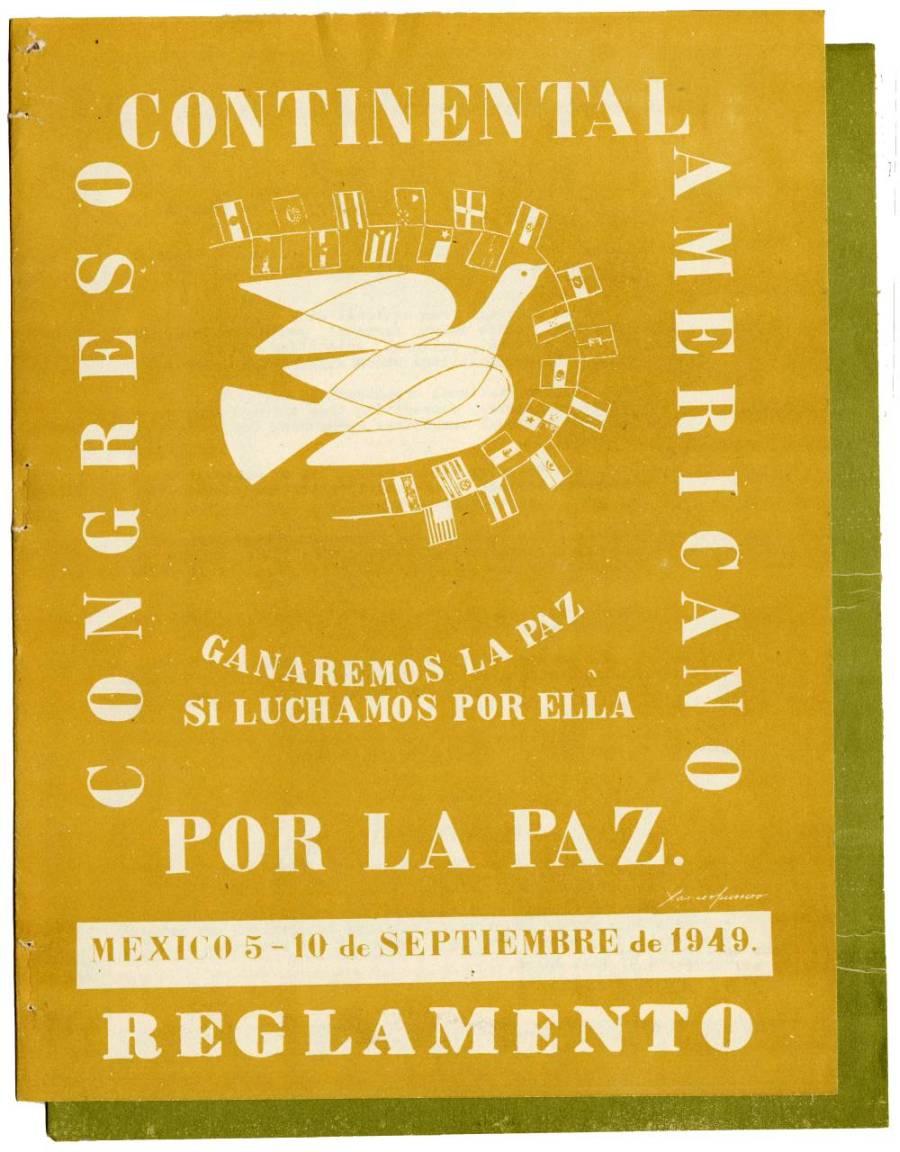Flyer: Congreso Continental Americano Por la Paz, Mexico.