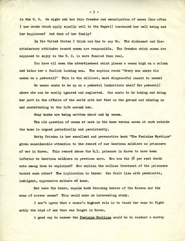 """""""The Second X-Chromosome: A Study of Woman.""""Page 5. December 1, 1964"""