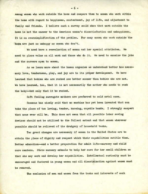 """""""The Second X-Chromosome: A Study of Woman.""""Page 6. December 1, 1964"""