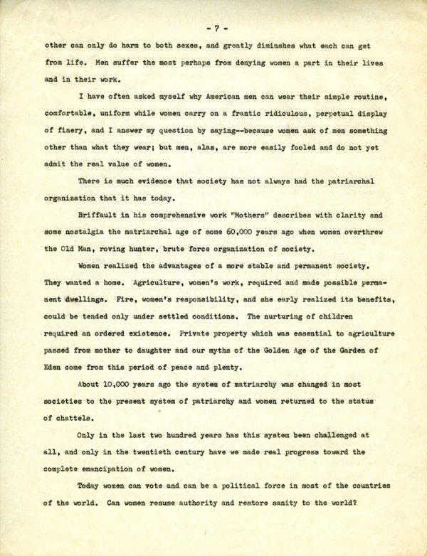 """""""The Second X-Chromosome: A Study of Woman.""""Page 7. December 1, 1964"""