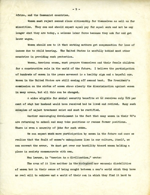 """""""The Second X-Chromosome: A Study of Woman.""""Page 9. December 1, 1964"""