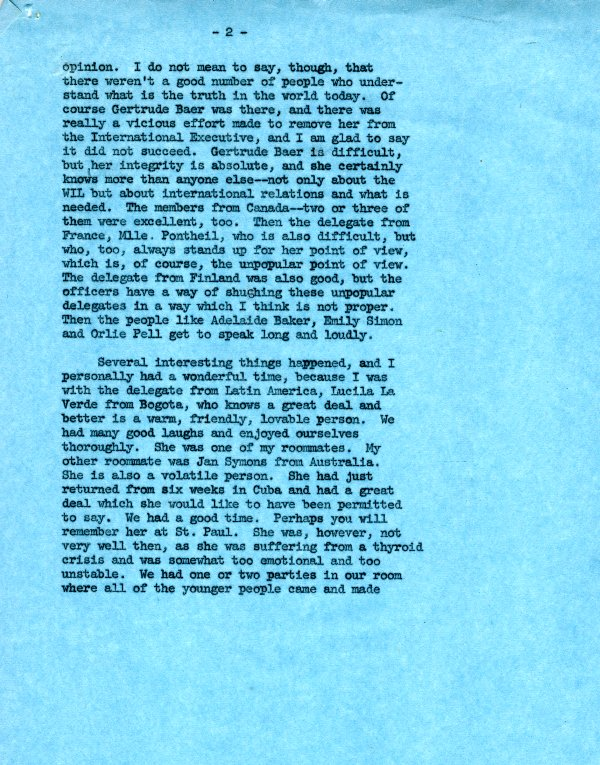 Letter from Ava Helen Pauling to Virginia Durr. Page 2. July 18, 1962