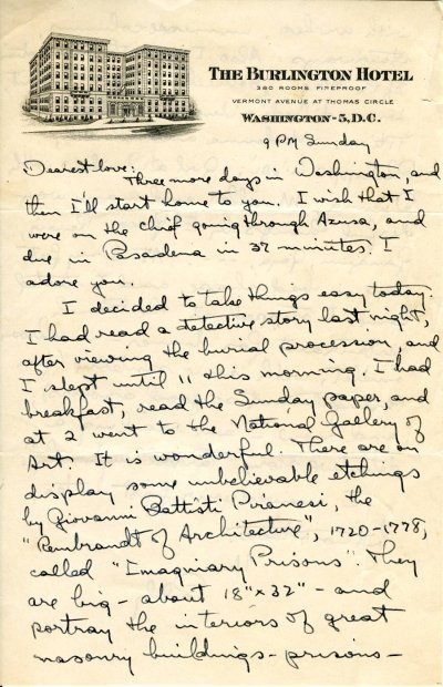 Letter from Linus Pauling to Ava Helen Pauling. Page 1. April 15, 1945