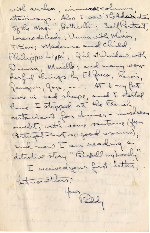 Letter from Linus Pauling to Ava Helen Pauling. Page 2. April 15, 1945