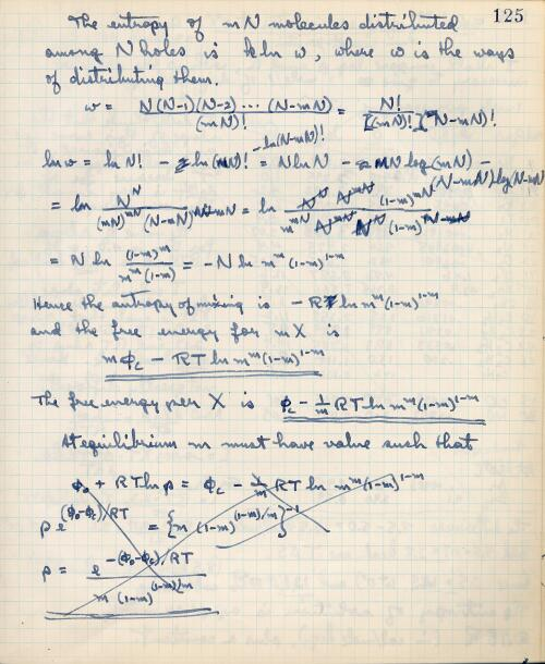 Book 20 Page 125 Linus Pauling Research Notebooks Special