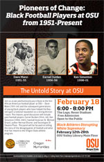 """Pioneers of Change: Black Football Players at OSU from 1951-Present"" - February 18, 2014"