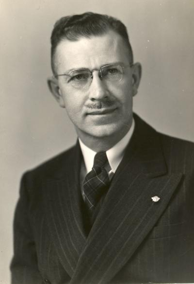 Herbert Reeves Sinnard, 1945. Sinnard was a professor of Agricultural Engineering from 1935-1957. He was also the head of the Architecture Department.