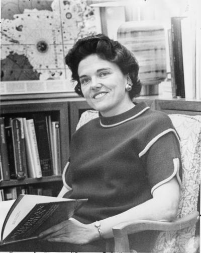 JoAnne Johnson Trow, 1967. Trow was OSU Vice President of Student Affairs.