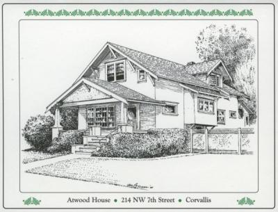 The Atwood House. Winfred Atwood and his wife were believed to have purchased this house and were living in it in 1914