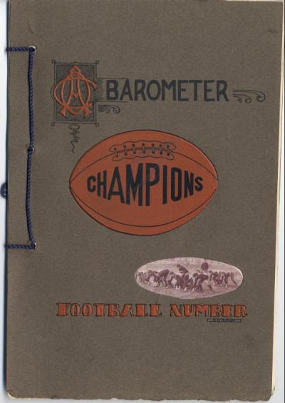 Barometer Football Number, 1907.