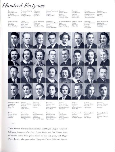 Students pictured in the 1941 Beaver, p.45.