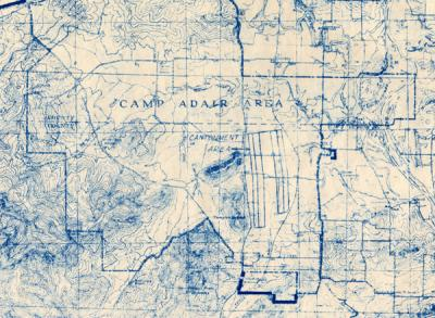 Camp Adair Training Aids General Layout, 1944.