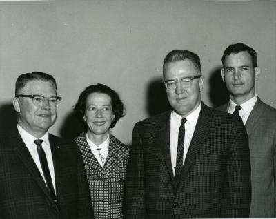 "Ted ""Hal"" Carlson (third from left) and three others, ca 1960s."