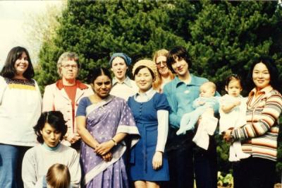 "Group photo annotated: ""Craft Group, April 1976."""