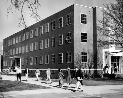 Gleeson Hall, the chemical engineering building, ca. 1960s.