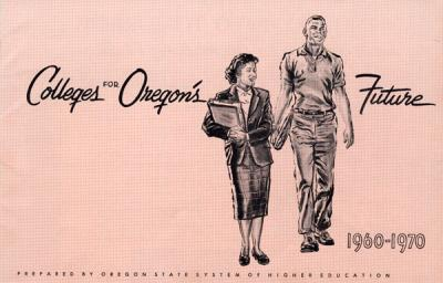 Cover of a Colleges for Oregon's Future brochure, ca. 1960s.