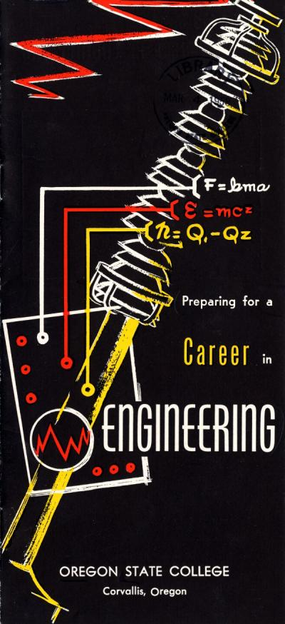 """Preparing for a Career in Engineering,"" brochure prepared by a predecessor to the OSU Curriculum Coordination Office."