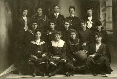 OAC Womens Basketball team, ca 1910s.
