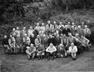 Rotary Club [?] group in Waldport, Oregon, ca. 1940s.