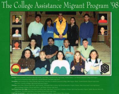 Group photo of the 1998 College Assistance Migrant Program participants.
