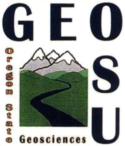 Department of Geosciences logo, extracted from a department newsletter, November 2011.