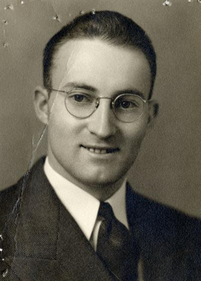 <p>John Hansen, ca 1940s. Hansen received a B.S. in agricultural economics from Oregon State College in 1941, beginning his work with the Extension Service in 1943. From 1949-1972, Hansen was Staff Chair for the Polk County</p><p>				Extension Station.</p>