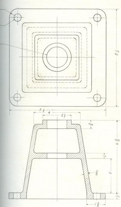 Image from Hironaka's Engineering Drawing notebook, ca 1950s.
