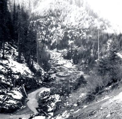 Lobster Creek, January 1965.