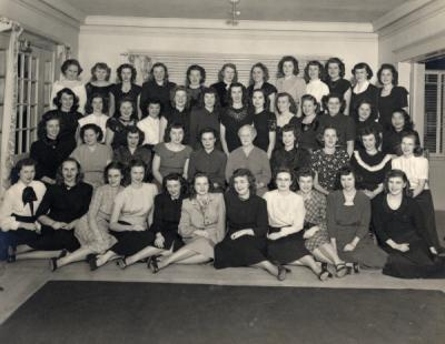 Jacquelin F. Holland, front row, fifth from left.