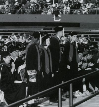 University Honors College graduates at commencement, 1997.
