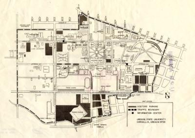 OSU campus map, March 1982.