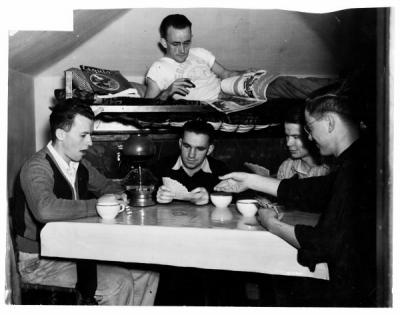 Kupono Cooperative House members playing cards, 1940.
