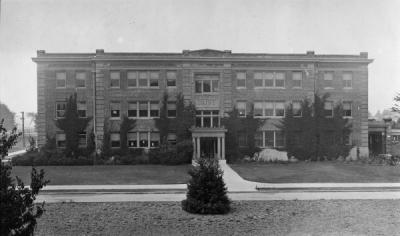 <p>The Dairy Building, ca. 1920s. The Dairy Building was designed by John Bennes and built in 1912-1913. Originally it included offices for Dairy Husbandry and the butter and cheese-making labs. Renamed Social Sciences Hall,</p><p>				it has been used by what is now the College of Liberal Arts since 1951 and is currently named Gilkey Hall.</p>