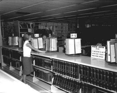 The Library reference collection, ca. 1960s.