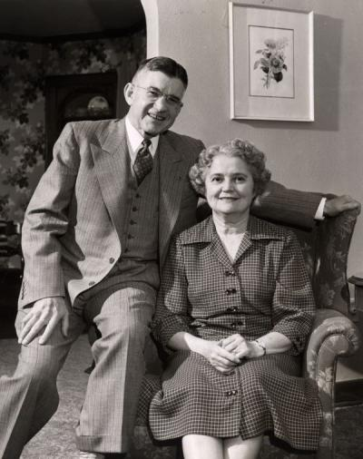Douglas and Mabel McKay, ca 1950.
