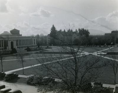 The Memorial Union quad, ca. 1940s.