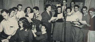 Members of the OSC Mike Club performing, 1949.