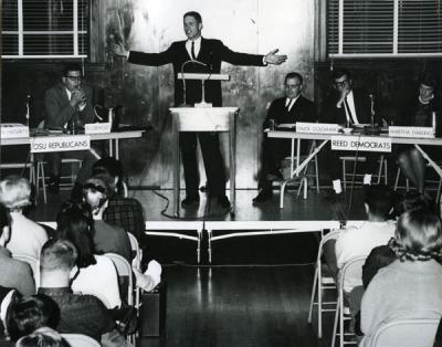 The Mock Legislature in session, ca. 1950s.